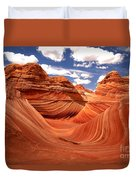 Springtime At The Wave Duvet Cover
