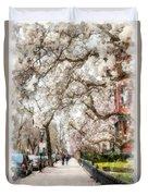 Springtime Boston Back Bay Duvet Cover