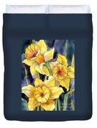 Springtime Daffodils Duvet Cover