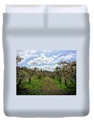 Springtime In The Apple Grove Duvet Cover