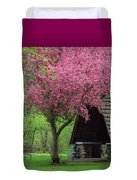 Springtime In The Park Duvet Cover by Lori Frisch
