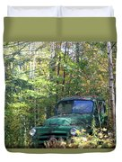 Springtime In The Woods Of Maine Duvet Cover
