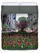 Springtime On Park Avenue Duvet Cover