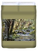 Springtime Stream In The Smokies Duvet Cover