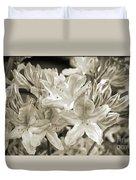 Sprint Flowers B/w 1 Duvet Cover