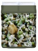 Sprouts And Other Healthy Food Duvet Cover