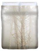 Spruce In The Fog Duvet Cover