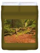 Spruce Logs Leith Hill Surrey 2014 Duvet Cover