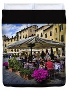 Square Amphitheater In Lucca Italy Duvet Cover by David Smith