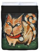 Square Cat Two Duvet Cover