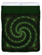 Square Crop Circles Two Duvet Cover