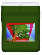 Square Palm Duvet Cover