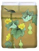 Squash Vine And Bamboo Duvet Cover