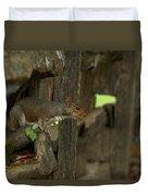 Squatting Squirrel Duvet Cover