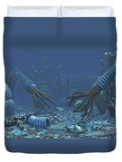 Squid-like Orthoceratites Attempt Duvet Cover by Walter Myers