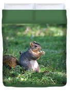 Squirrel Eating A Nut - Eugene Oregon Duvet Cover