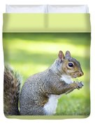 Squirrel Eating Grapes Duvet Cover