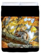 Squirrel In Autumn Duvet Cover