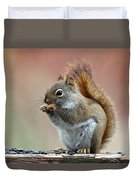 Squirrel In Fall Duvet Cover
