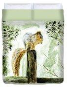 Squirrel Painting Duvet Cover