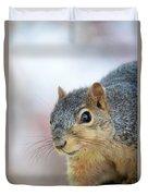 Squirrel Portrait Duvet Cover