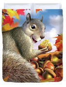 Squirrel Treasure Duvet Cover