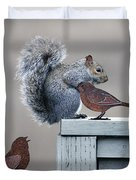 Squirrely Duvet Cover