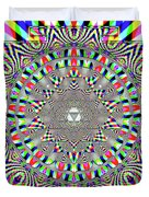 Sri Yantra Rgb Duvet Cover by Robert Thalmeier