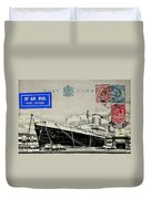 Ss United States - Post Card Duvet Cover