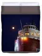 Ss William A Irvin At Night Duvet Cover