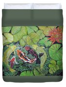 Summer Pond At Lunchtime Duvet Cover