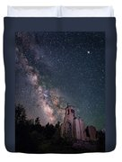St. Aloysius Church Ruin Under The Stars Duvet Cover