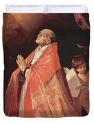 St Andrew Corsini In Prayer 1635 Duvet Cover