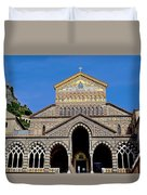 St Andrews Cathedral In Amalfi Duvet Cover