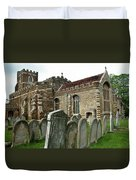 Church Of All Saints, Houghton Conquest, Uk Duvet Cover