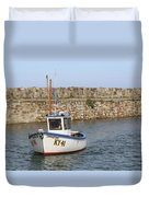 St Andrews Harbour Duvet Cover