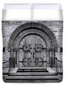 St Ann Church - Bw Duvet Cover