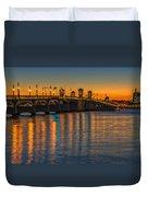 St Augustine Bridge Of Lions Sunset Dsc00433_16 Duvet Cover