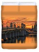 St Augustine Bridge Of Lions Sunset Dsc00565_16 Duvet Cover