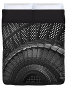 St. Augustine Lighthouse Spiral Staircase I Duvet Cover by Clarence Holmes