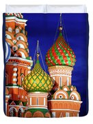 St Basils Cathedral In Moscow Russia Duvet Cover