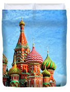 St. Basil's Cathedral Moscow Duvet Cover