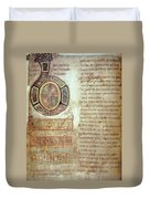 St. Bede, Manuscript Duvet Cover