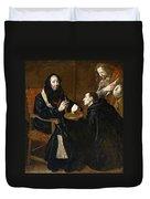 St Benedict Blesses The Bread Duvet Cover