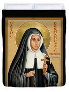St. Bernadette Of Lourdes - Jcbsl Duvet Cover