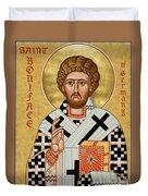 St. Boniface Of Germany - Jcbon Duvet Cover