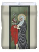 St Catherine Of Siena- Guardian Of The Papacy 288 Duvet Cover