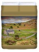 St Celynnin Church Sunset Duvet Cover