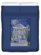 St. Charles Blue House Duvet Cover