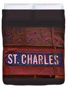 St Charles Line Duvet Cover